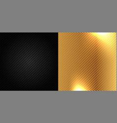 black and golden carbon fiber kevlar texture vector image