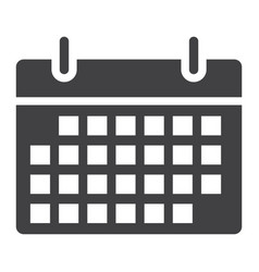 calendar glyph icon web and mobile date sign vector image vector image