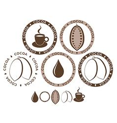 Cocoa Set vector image vector image