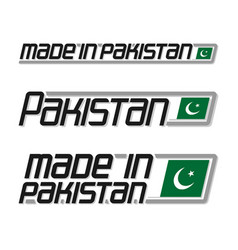 made in pakistan vector image