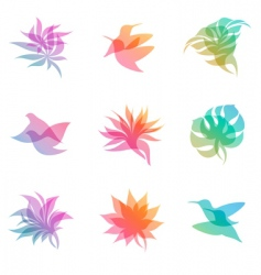 nature elements vector image