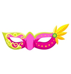 Party mask in pink color vector image vector image