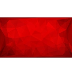 Red polygon background vector image