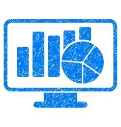 Statistics Monitoring Grainy Texture Icon vector image vector image