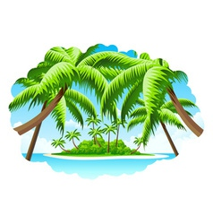 Summer Vacation Background vector image vector image