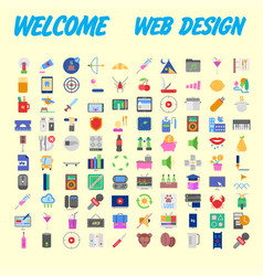 100 icon set trendy thin and simple icons for web vector