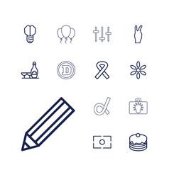 13 creative icons vector