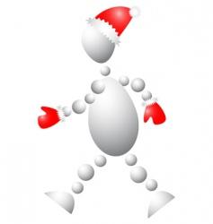 3D Santa Claus vector image