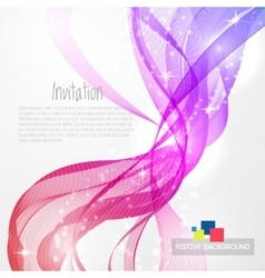 Abstract background with rainbow wave vector image