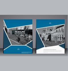 abstract blue modern flyer brochure template vector image