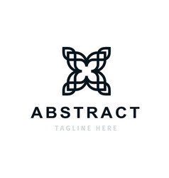abstract company logo design business template vector image