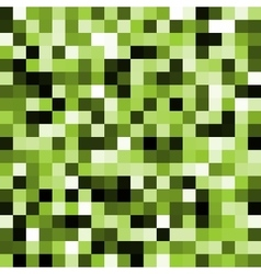 Abstract green pixel background vector