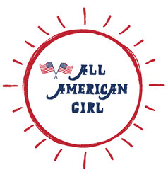 All american girl vector