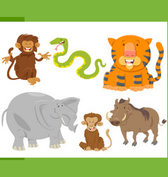 Animal characters collection vector