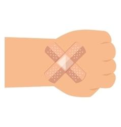 Bandage medical isolated icon vector