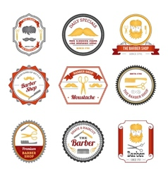 Barber Shop Emblems Colored vector