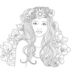 Cute Girl Coloring Pages Vector Images (over 1,700)