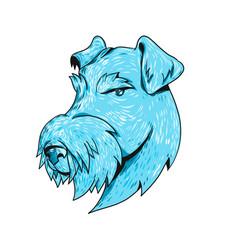 Bingley terrier head drawing vector