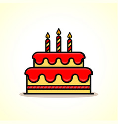 birthday cake icon design vector image