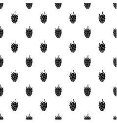 Blackberry fruit pattern vector