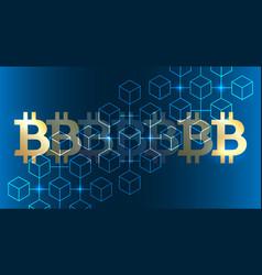 Blockchain bitcoin background vector
