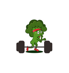 Brocoli weighlifting medium vector