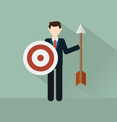 Businessman with target vector