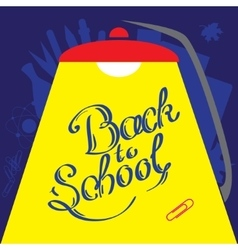 Calligraphic Back to school in front of vector image