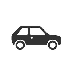 car icon in flat style automobile car on white vector image