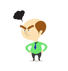 cartoon boss looking angry vector image