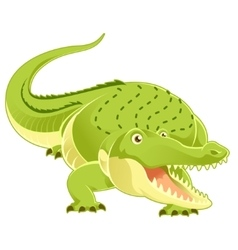 Cartoon happy Crocodile vector