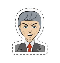 Cartoon man avatar image vector