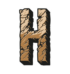 Colorful vintage alphabet letter h concept vector