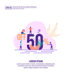 concept discount sale modern conceptual for vector image