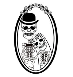 day dead skulls wedding vector image