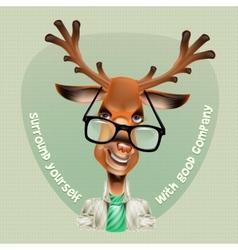Deer hipster vector image