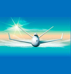 drone flying in the sky of vector image