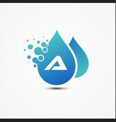 droplet design with a letter symbol design vector image