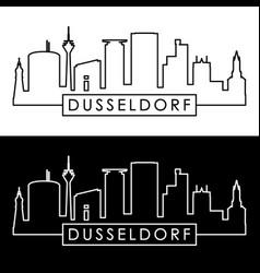 dusseldorf skyline linear style editable file vector image