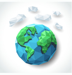 Earth polygon vector
