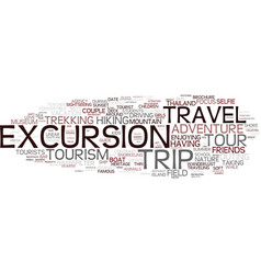 Excursion word cloud concept vector