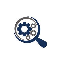 gear magnify vector image
