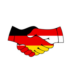 Germany and poland business handshake vector
