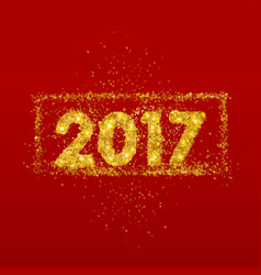 golden numbers 2017 new year vector image