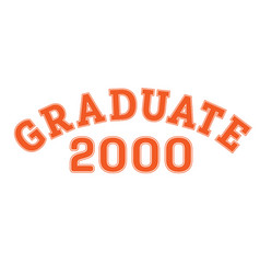 graduated in 2000 lettering for a senior class vector image