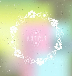 Hand drawn silhouette floral wreath on te vector