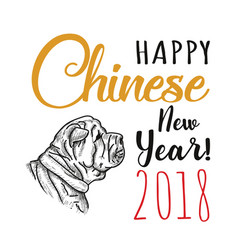 happy chinese new year vector image