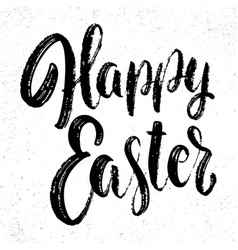 happy easter lettering phrase design element vector image