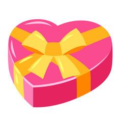 Heart shaped gift vector