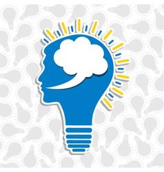 human head bulb vector image